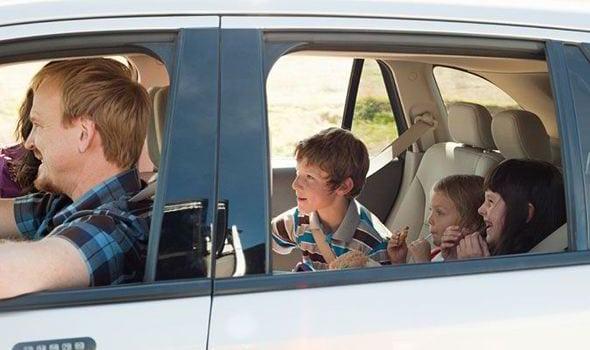 children driving parents